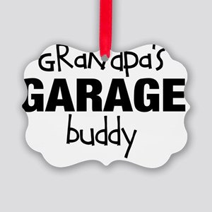 Grandpas Garage Buddy Picture Ornament